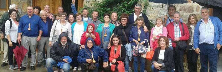 Visita de los compañeros del sector vitivinícola de la Rioja Alavesa