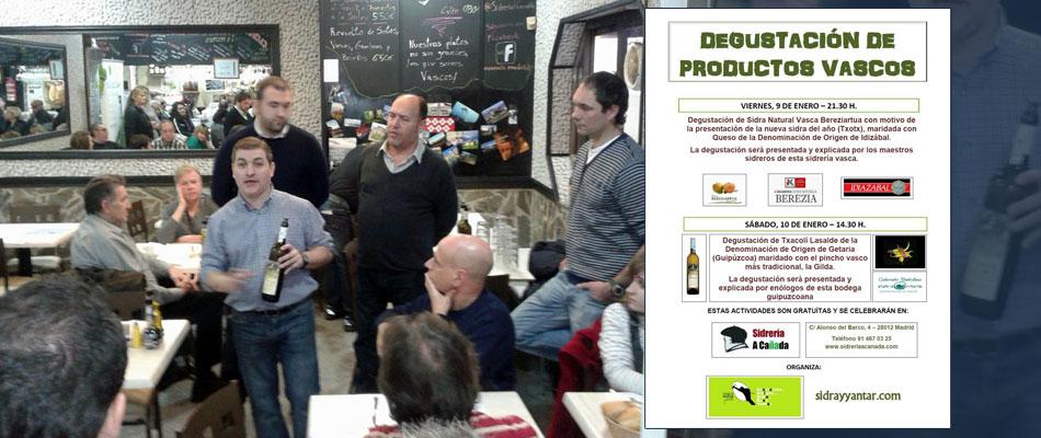 Degustación de Txakoli Lasalde en Madrid